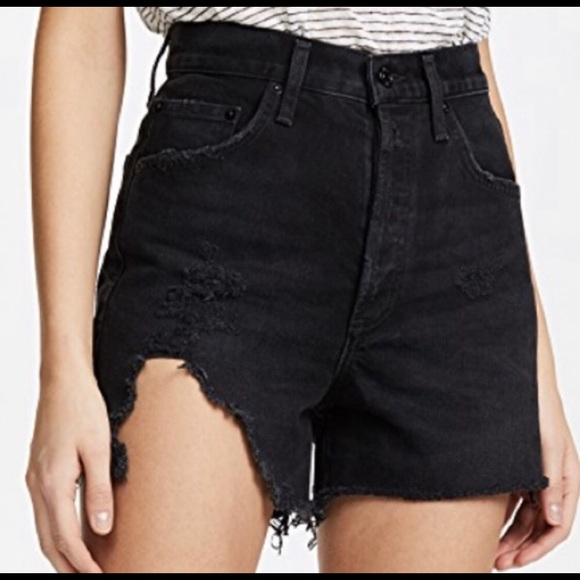 Agolde Pants - Agolde Dee Ultra High Rise Shorts Seeker